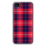 1001 Coques Coque silicone gel Apple IPhone 7 motif Tartan Rouge 2