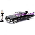 DC Bombshells - Réplique métal Hollywood Rides 1/24 Cadillac 1959 avec figurine Catwoman