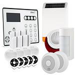 Atlantic'S ATEOS - Alarme de maison sans fil GSM Kit 12