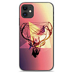 1001 Coques Coque silicone gel Apple iPhone 11 motif Cerf Hipster