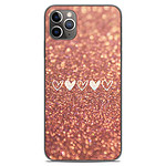1001 Coques Coque silicone gel Apple iPhone 11 Pro Max motif Paillettes coeur