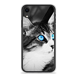1001 Coques Coque silicone gel Apple iPhone XR motif Chat yeux bleu