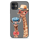 1001 Coques Coque silicone gel Apple iPhone 11 motif Funny Girafe