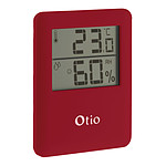 Thermomètre hygromètre magnétique rouge - Otio