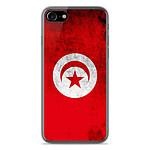 1001 Coques Coque silicone gel Apple IPhone 8 motif Drapeau Tunisie