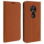 Avizar Etui folio Camel pour Motorola Moto G7 Play