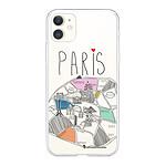 LA COQUE FRANCAISE Coque iPhone 11 360 intégrale transparente Plan de Paris Tendance