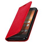 Avizar Etui folio Rouge pour Motorola Moto G6 Play , Motorola Moto E5
