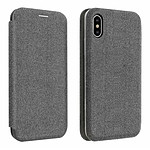 Avizar Etui folio Gris pour Apple iPhone X , Apple iPhone XS