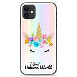 1001 Coques Coque silicone gel Apple iPhone 11 motif Unicorn World