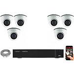 EC-VISION Kit vidéo surveillance IP 6 caméras dômes POE 5 MegaPixels
