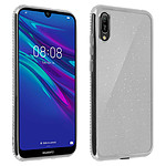 Avizar Coque Argent Design pailleté pour Huawei Y6 2019