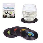 4 Dessous de verre disque vinyl