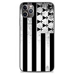 1001 Coques Coque silicone gel Apple iPhone 11 Pro Max motif Drapeau Bretagne