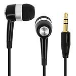 Avizar Ecouteurs Noir pour Téléphones portables avec prise Jack 2.5 ou Jack 3,5 mm