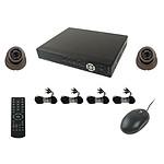 YONIS Kit vidéosurveillance 2 caméras Noir Y-5149