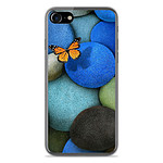 1001 Coques Coque silicone gel Apple IPhone 8 motif Papillon galet bleu