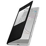 Avizar Etui folio Noir à fenêtre pour Sony Xperia XZ1