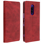 Avizar Etui folio Rouge Vieilli pour Sony Xperia 1