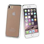 PARTNER Coque pour iPhone 7/8/ iPhone SE 2020 silicone souple transparente avec bumper silver