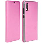 Avizar Etui folio Rose Éco-cuir pour Huawei P20
