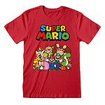 Nintendo - T-Shirt Super Mario Main Character Group - Taille S
