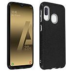 Avizar Coque Noir Design pailleté pour Samsung Galaxy A20e