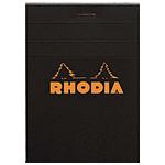 Rhodia bloc noir n°12 8,5x12cm 80 feuilles agrafées 80g Q.5x5