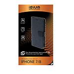 Isium Etui Portefeuille Premium Gris Iphone 7/8