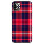 1001 Coques Coque silicone gel Apple iPhone 11 Pro Max motif Tartan Rouge 2