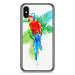 1001 Coques Coque silicone gel Apple iPhone X / XS motif RF Tropical party