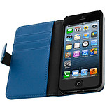 Avizar Etui folio Bleu pour Apple iPhone 5 , Apple iPhone 5S , Apple iPhone SE