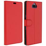 Avizar Etui folio Rouge Éco-cuir pour Sony Xperia 10 Plus