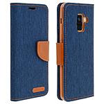 Avizar Etui folio Bleu Nuit pour Samsung Galaxy A8