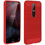 Avizar Coque Rouge pour Nokia 6.1 Plus
