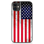 1001 Coques Coque silicone gel Apple iPhone 11 motif Drapeau USA