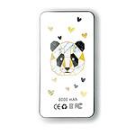 EVETANE Batterie verre trempé 8000mAh Panda Géométrique