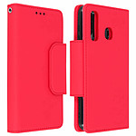 Avizar Etui folio Rouge Portefeuille pour Samsung Galaxy A50