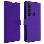 Avizar Etui folio Violet pour Motorola Moto G8 Plus