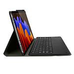 Avizar Clavier sans fil Noir pour Samsung Galaxy Tab S7 Plus 12.4