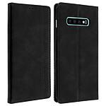 Avizar Etui folio Noir Vintage pour Samsung Galaxy S10 Plus