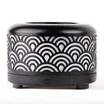 Zen'Arôme - Diffuseur d'Huiles Essentielles par Ventilation en Métal Nomeo Noir