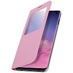 Avizar Etui folio Rose à fenêtre pour Samsung Galaxy S10e