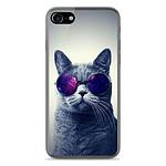 1001 Coques Coque silicone gel Apple IPhone 8 Plus motif Chat à lunette
