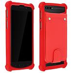 Avizar Coque Rouge pour Compatibles avec Smartphones de 3,8 à 4,3 pouces