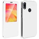 Avizar Etui folio Blanc pour Xiaomi Redmi Note 7