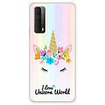 1001 Coques Coque silicone gel Huawei P Smart 2021 motif Unicorn World