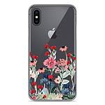 1001 Coques Coque silicone gel Apple iPhone X / XS motif Printemps en fleurs