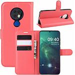 Lapinette Etui Housse Portfeuille pour Nokia 6.2 Rouge