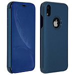 Avizar Etui folio Bleu Design Miroir pour Apple iPhone XR